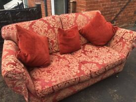 2 seater Eyres bought sofa and matching armchair £300 ONO
