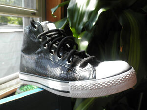 Black Sequin High Top Sneakers