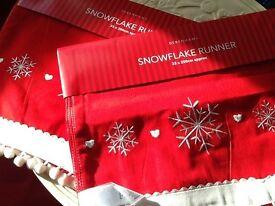 Debenhams 2 snowflake table runner