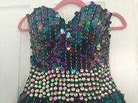 Black and Embellished Prom Dress, Size 6, OWO