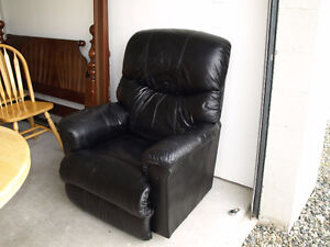 Lazyboy Black Leather Recliner