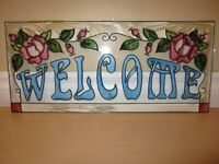 Faux Stained Glass Welcome