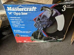 "Chop Saw - 14"" Mastercraft with NIB stand"