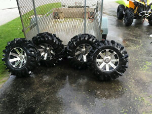 """30 """" inch mudder in laws on 14"""" buckshoot can am"""