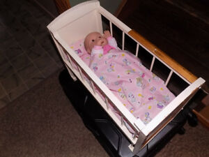 BABY DOLL WITH CRIB