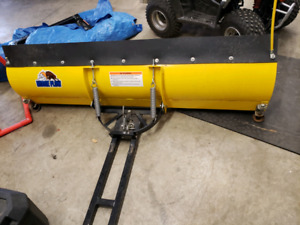 "72"" snow plow with RZR hook up."