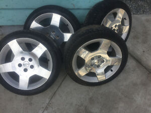 205/50/17 on Crome Chevy Rims