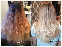 Balayage and ombre special $80, highlights $60