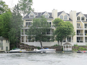 Muskoka Waterfront Port Carling Monthly rental 2 bed condo