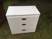 White chest of drawers CAN DELIVER