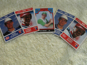 "FIVE OLD ""POST"" SUPER STAR  SERIES MLB 1991 COLLECTOR'S CARDS"