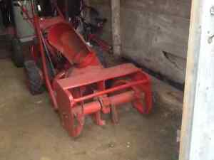 Gravely 2 wheel walkbehind tractor with snowblower