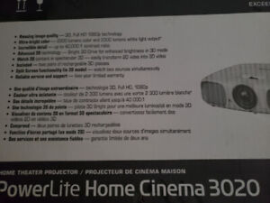 Epson 3D projector and large motorized screen