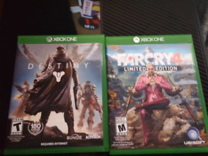 Far Cry 4 limited edition and Destiny. Mint condition