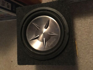 $100 OBO 12 inch Clarion Subwoofer with Box