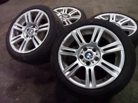 "17"" GENUINE BMW 1/3 SERIES MSPORT ALLOY WHEELS & TYRES 5X120"