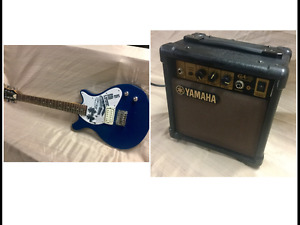 ELECTRIC GUITAR AND SMALL PRACTICE AMP