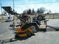 2007 Boxer 320 Mini Skid Steer post hole auger, trailer, 834 hrs