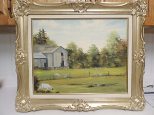 Listed Canadian artist old landscape oil painting