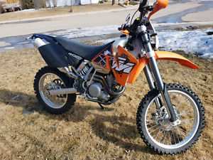 2002 ktm 400 exc low hour and plated
