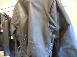 Old school black leather jacket @recycledgear.ca Kawartha Lakes Peterborough Area image 7