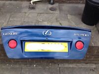 Lexus is200 blue 8m6 bootlid boot tailgate + spoiler 98-05 breaking spares is 200 is300