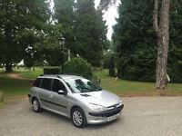 2003/03 Peugeot 206 SW 1.4 HDi XT DIESEL 5 DOOR ESTATE SILVER