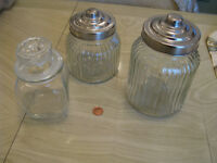 Vintage glass kitchen containers