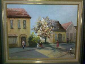 Street Scene Oil Painting for sale made in 1983 in mint condition Parramatta Parramatta Area Preview