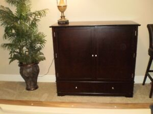Attractive wood entertainment/storage unit