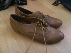 Brown shoes from spring never worn size 8.5
