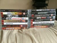 PS3 (60gb) & 16 games - faulty but powers up