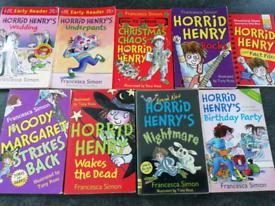 9 Horrid Henry books