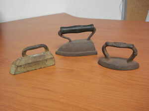 VINTAGE MINIATURE IRONS early 1900's