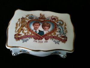 Charles and Diana Wedding trinket box