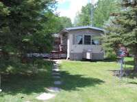 12x68 Mobile home Lake view w/attached cabana &deck&10x10 shed