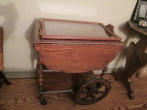 Reduced from $100 - $70 Antique tea wagon