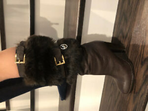 Women's MK Boots with Faux Fur