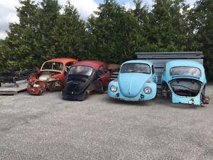 VW beetle parts lot