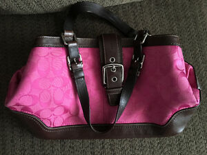 Pink & brown Coach purse hardly used
