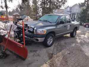 2006 dodge ram 1500 4x4 with Western plow and valid emissions.