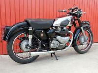 MATCHLESS G9 1954 TWIN RED CHROME TANK MODEL SPRINGER FRAME