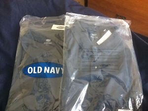 Navy blue polos (2) shirt sleeve BNIP