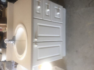 vanity. Toilet and Medicine cabinet Vanity is 38 inches long 33
