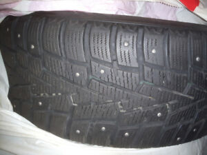 225/50R17 tire rim studded and have sensors