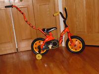 Bicyclette 12 pouce avec poignée a l'arrière