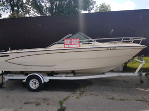 1985 Glastron 20' Boat and trailer