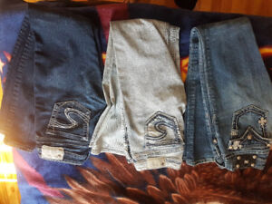 Silver and Miss Me jeans.