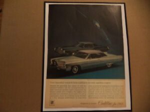 old cadillac classic car framed ads Windsor Region Ontario image 6