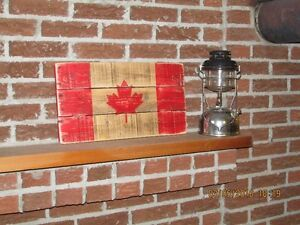 Rustic Wood *CANADA FLAGS* Hand Made - Ready To Hang